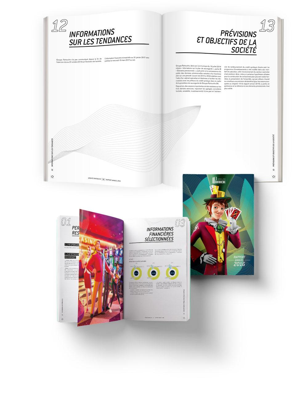 Pages intérieures du rapport 2016 du groupe Partouche