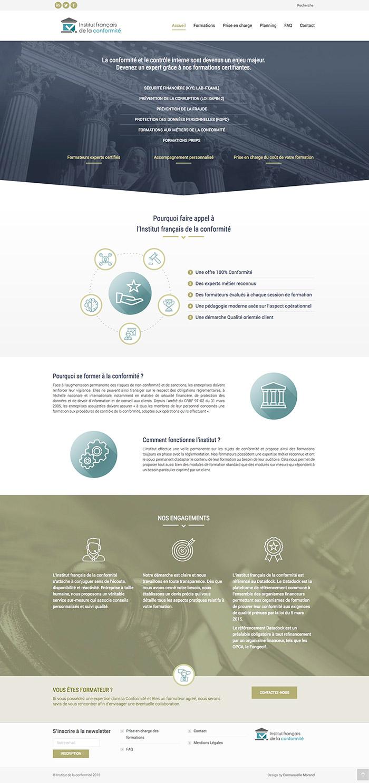 Site Internet Institut de la conformité - Accueil