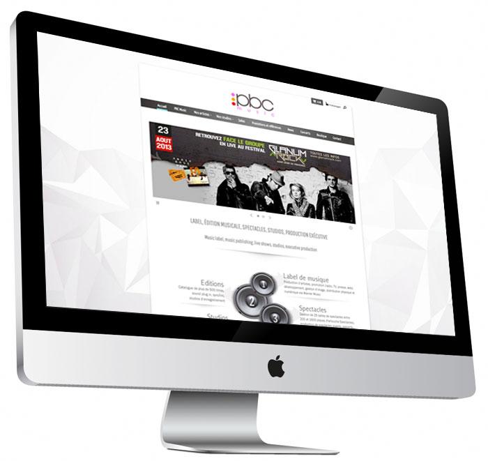 Site internet du label PBC Music